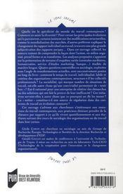 L'organisation à l'épreuve ; autour du temps, de la sociabilité, de la rationalité et du métier - 4ème de couverture - Format classique
