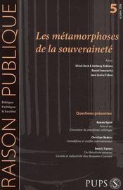 Raison Publique N.5 ; Les Métamorphoses De La Souveraineté - Intérieur - Format classique