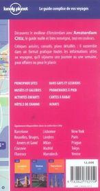 Amsterdam Citiz - 2ed - 4ème de couverture - Format classique