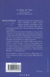 Le Siege De L Ame. Eloge De La Sodomie - 4ème de couverture - Format classique