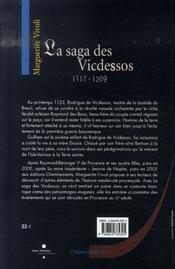 La saga des vicdessos, 1117-1209 - 4ème de couverture - Format classique