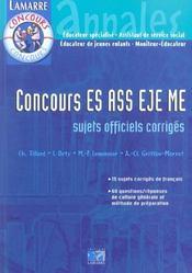 Concours As Es Eje Me - Intérieur - Format classique