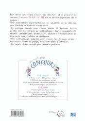 Concours As Es Eje Me - 4ème de couverture - Format classique