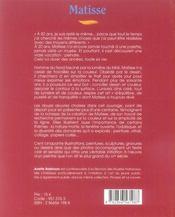 Matisse Francais - 4ème de couverture - Format classique