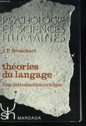 Theorie du langage - Couverture - Format classique