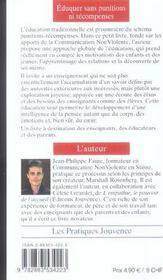 Eduquer Sans Punitions Ni Recompenses N.110 - 4ème de couverture - Format classique