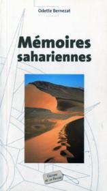 Memoires sahariennes - Couverture - Format classique