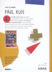 Paul Klee - 4ème de couverture - Format classique