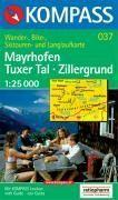 Mayrhofen/tuxer tal/zillergrund ; 1/25.000 ; n.37 - Couverture - Format classique