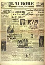 Aurore France Libre (L') N°1329 du 22/12/1948 - Couverture - Format classique