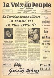 Voix Du Peuple De Touraine (La) N°1340 du 02/04/1967 - Couverture - Format classique
