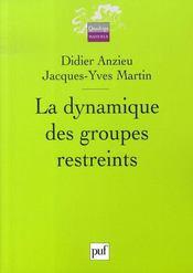 La dynamique des groupes restreints - Intérieur - Format classique