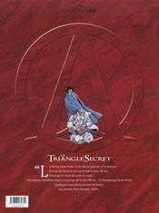 Le triangle secret t.4 ; l'évangile oublié - 4ème de couverture - Format classique