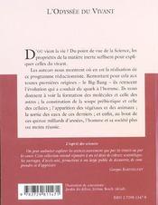 L'Odyssee Du Vivant No19 - 4ème de couverture - Format classique