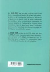 Dicotest anglais ; guide des erreurs à éviter et tests d'entraînement corrigés - 4ème de couverture - Format classique