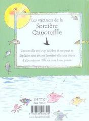 Les Vacances De La Sorciere Camomille - 4ème de couverture - Format classique