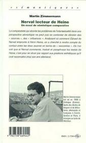 Nerval Lecteur De Heine ; Un Essai De Semiotique Comparative - 4ème de couverture - Format classique