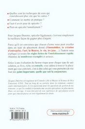 Speculation A L'Usage Des Gens Honnetes ; S'Enrichir Malgre Les Crises - 4ème de couverture - Format classique