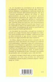 Medecine Chinoise - 4ème de couverture - Format classique