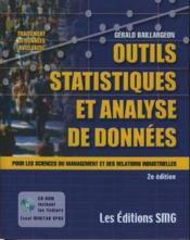 Outils statistiques et analyse de donnees pour les sciences du management et des relations industrielles - Couverture - Format classique