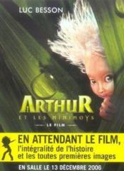 Arthur et les minimoys ; le film - Couverture - Format classique