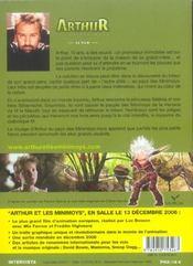 Arthur et les minimoys ; le film - 4ème de couverture - Format classique