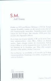 S m - 4ème de couverture - Format classique