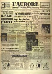 Aurore France Libre (L') N°1332 du 25/12/1948 - Couverture - Format classique