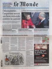 Monde (Le) N°20897 du 28/03/2012 - Couverture - Format classique