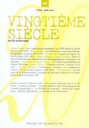 Revue Vingtieme Siecle N.86 - Intérieur - Format classique