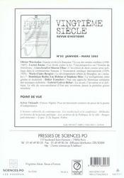 Revue Vingtieme Siecle N.86 - 4ème de couverture - Format classique