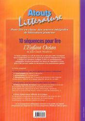10 séquences pour lire ; l'enfant océan ; cycle 3, niveau 3 - 4ème de couverture - Format classique