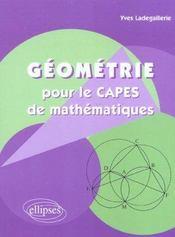 Geometrie Pour Le Capes De Mathematiques - Intérieur - Format classique