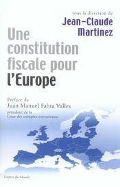 Une constitution fiscale pour l'Europe - Intérieur - Format classique