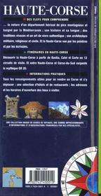 Haute Corse - 4ème de couverture - Format classique