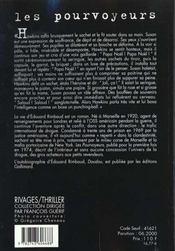 Les Pourvoyeurs - 4ème de couverture - Format classique