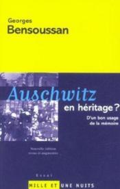 Auschwitz En Heritage - Couverture - Format classique