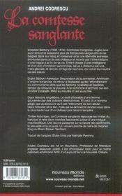 La comtesse sanglante - 4ème de couverture - Format classique