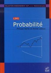 Probabilité ; L3M1 - Intérieur - Format classique