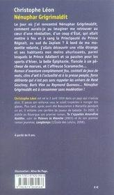 Nénuphar Grigrimaldit - 4ème de couverture - Format classique