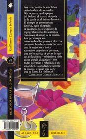 Delito Para Bailar El Chacha - 4ème de couverture - Format classique