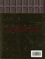 Le livre d'or du chocolat - 4ème de couverture - Format classique