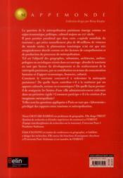 Métropolisation et tourisme ; comment le tourisme redessine Paris - 4ème de couverture - Format classique