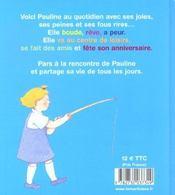 Les Histoires De Pauline - 4ème de couverture - Format classique