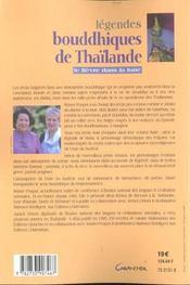 Legendes bouddhiques de thailande ; le lievre dans la lune - 4ème de couverture - Format classique