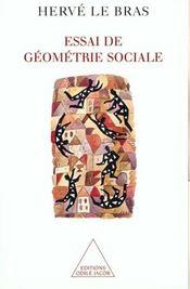 Essai de géométrie sociale - Intérieur - Format classique
