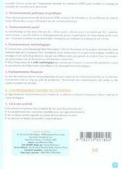Bts/dut ; L'Economie D'Entreprise - 4ème de couverture - Format classique