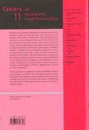 Revue Cahiers Traditionnels N.11 Paroles De Musiciens - 4ème de couverture - Format classique