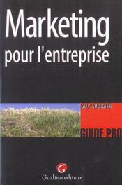 Guide Marketting Pour L'Entreprise - Intérieur - Format classique