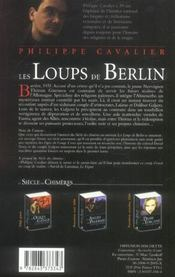 Le Siecle Des Chimeres T.2 ; Les Loups De Berlin - 4ème de couverture - Format classique
